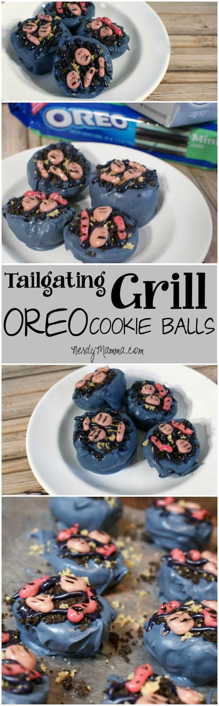 I took these ridiculously cute OREO Cookie Ball grills to a tailgating party and everyone LOVED them! Yummy snack with cute decorations...the whole party wanted more! LOL!