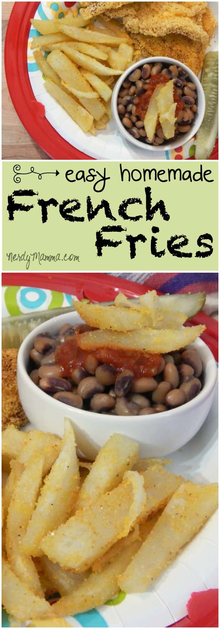 My kids (and husband) love this recipe for easy homemade french fries. They eat EVERY ONE. We could make a whole meal of out it. Gluten-free, dairy-free, eggless. It hits all our high-points!