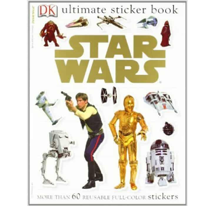 Star wars sticker book present for kid fin