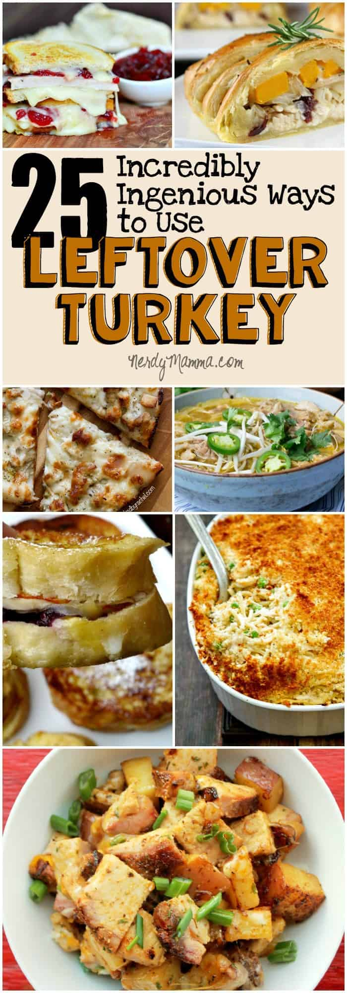 These 25 Ingenious ways to make something totally yummy with leftover Thanksgiving turkey...my mouth is watering...