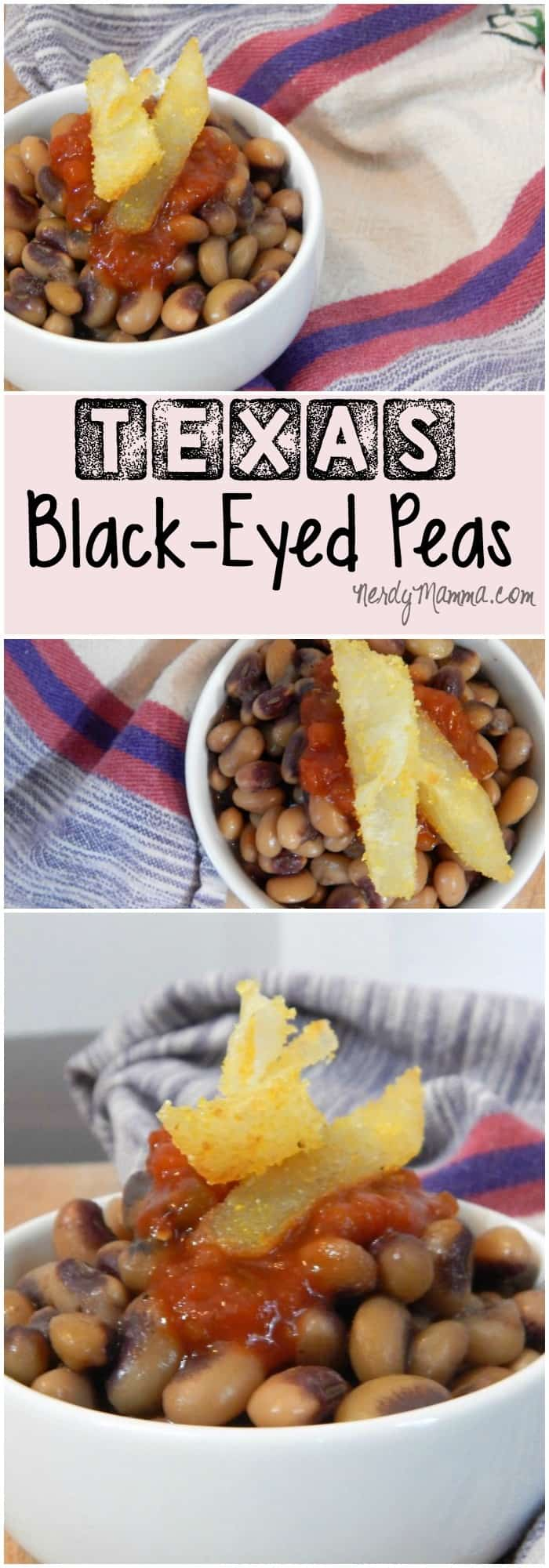 These Texas Black-Eyed Peas are a true southern-style treat. Gluten-Free, these things are good. I could totally eat them every day!