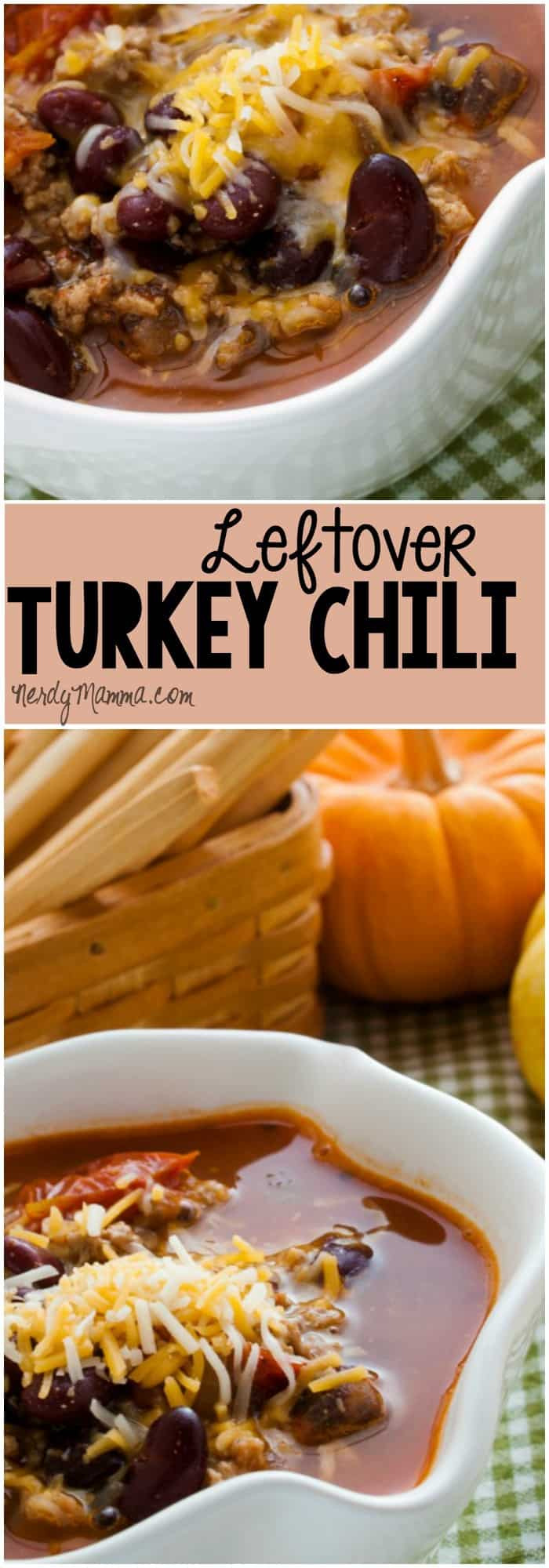 This recipe for leftover turkey chili is so awesomely yummy. Easy, fast and uses a lot of turkey, it's kinda perfect for the day after Thanksgiving.