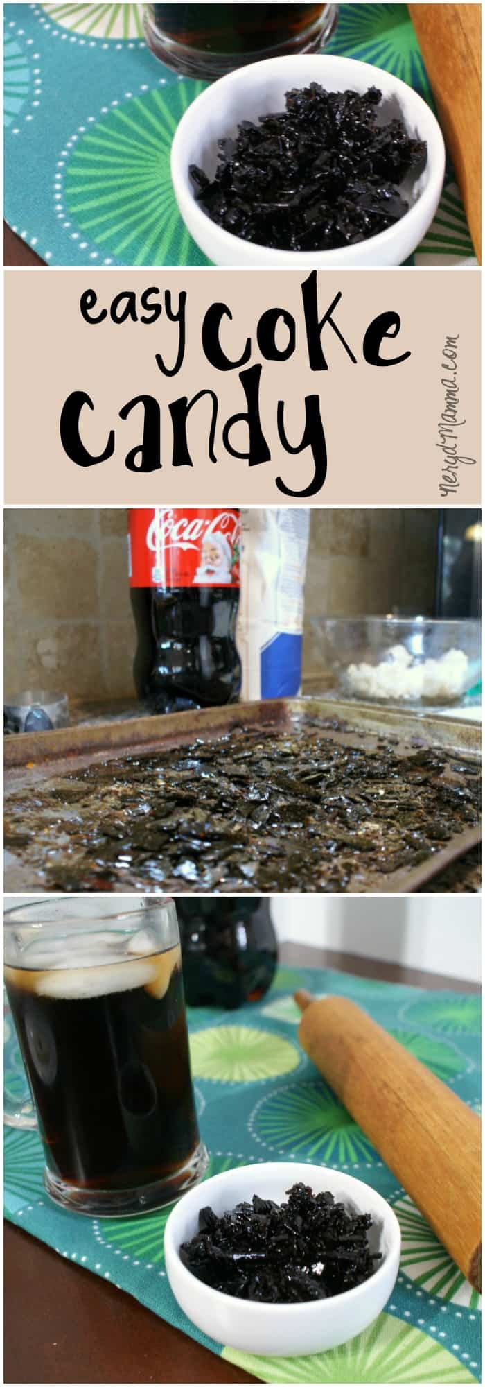 This recipe for making candy out of coke is so ridiculously easy. And yummy. Unbelievable!