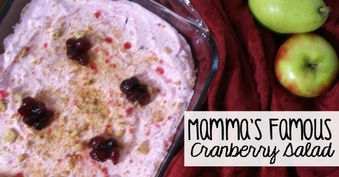 cranberry dessert recipe idea fb