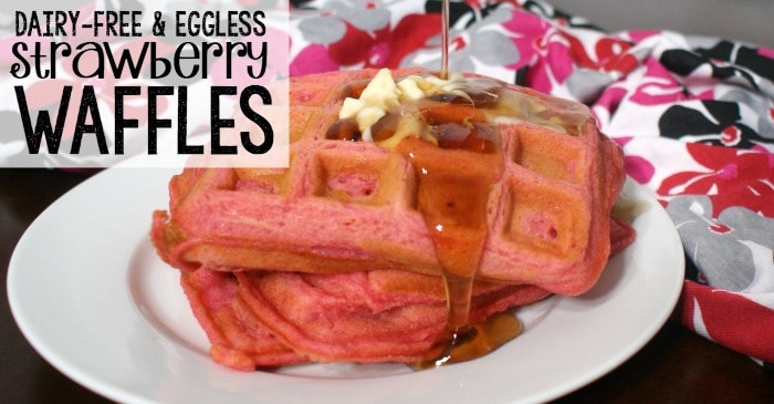 dairy-free strawberry waffles fb