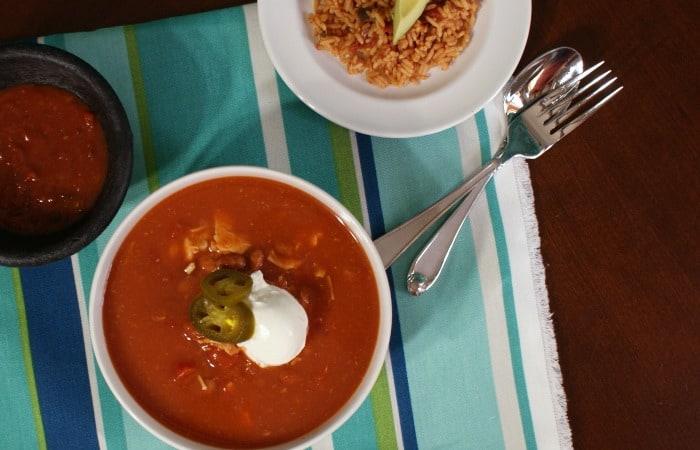 easy chicken tortilla soup recipe feature