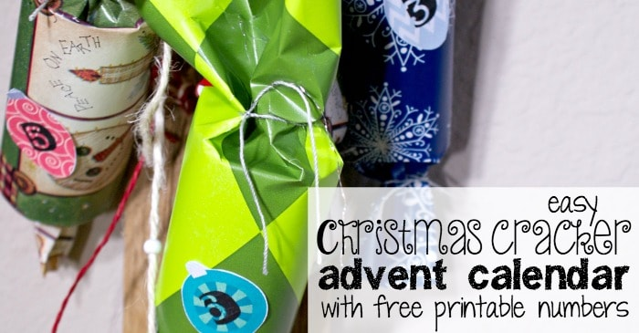 easy christmas cracker advent calendar with free printable numbers fb