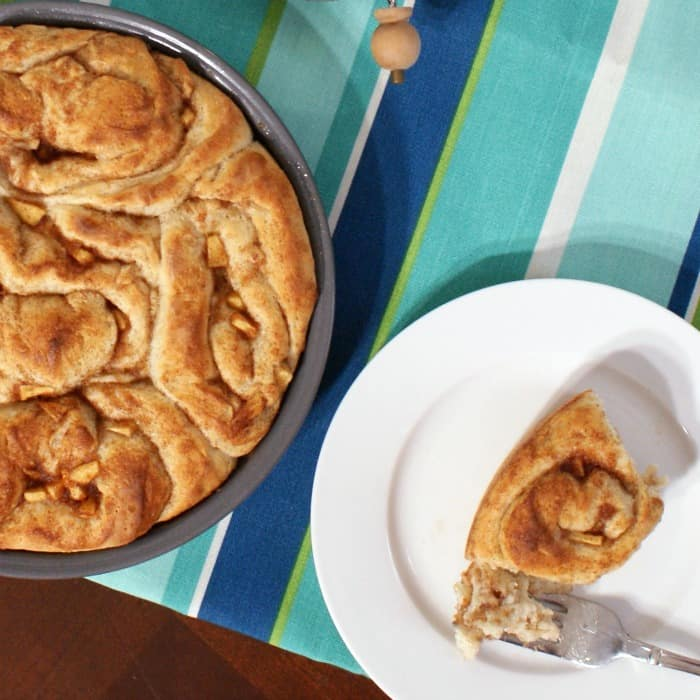easy cinnamon rolls with apple filling sq