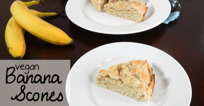 easy dairy-free scone recipe with bananas fb