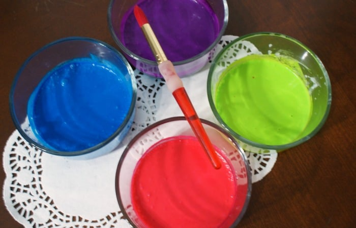 easy edible finger paint without milk feature