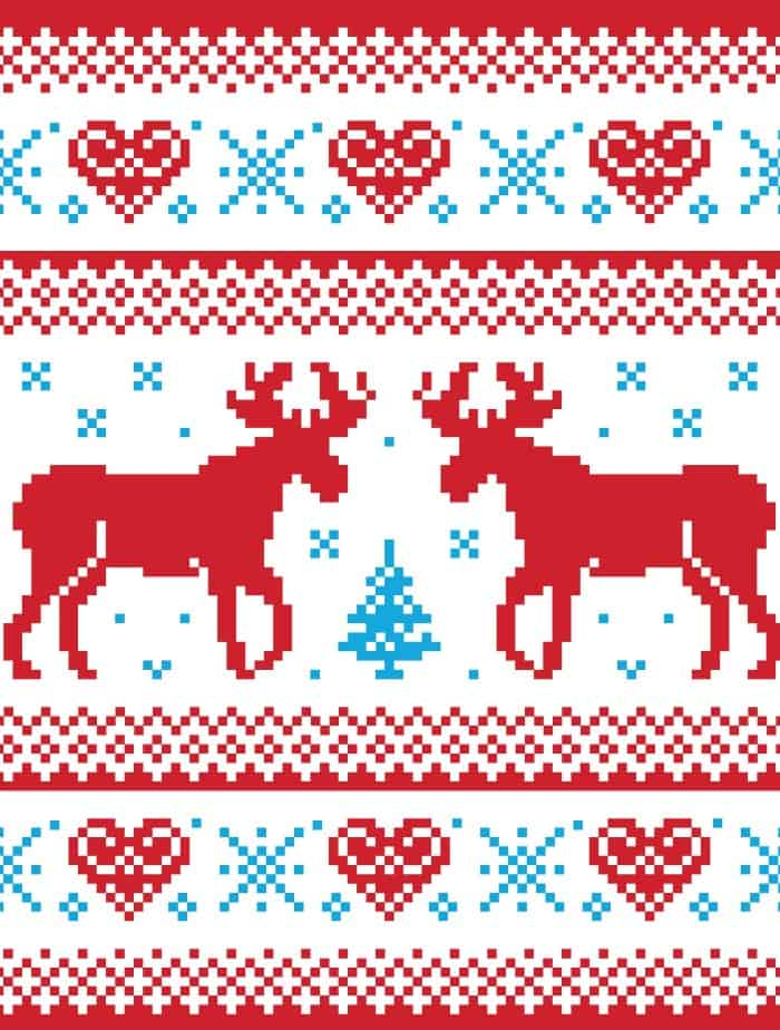 elk ugly christmas sweater wrapping paper small