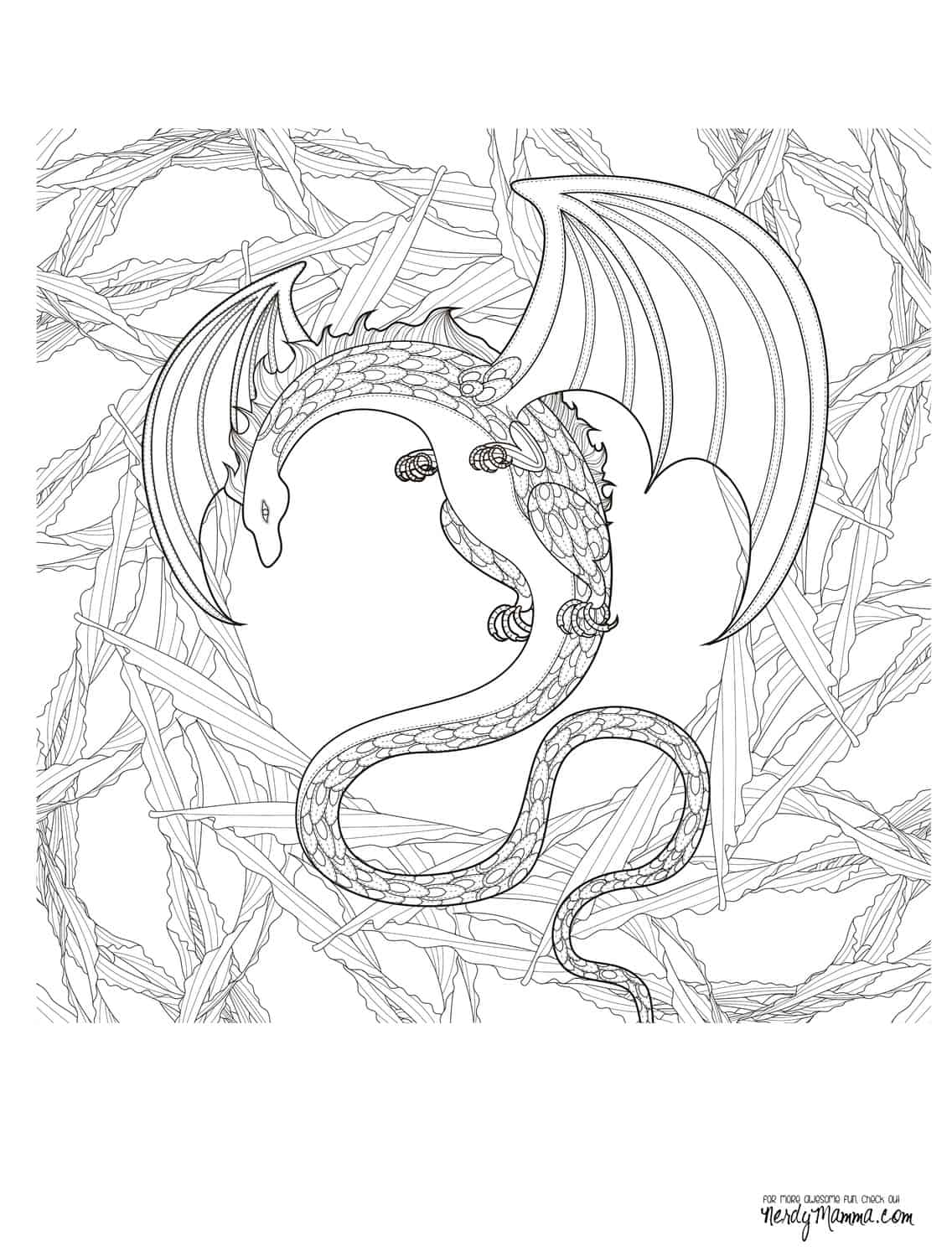 dragon adult coloring pages - photo#10