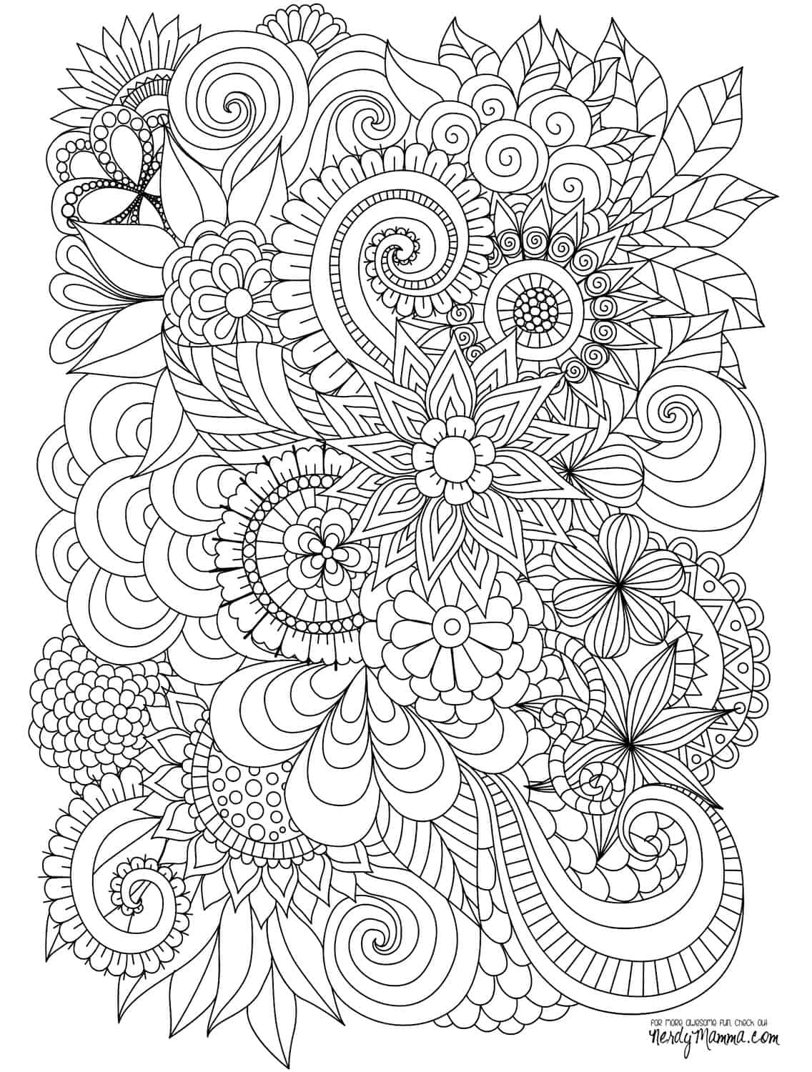 11 Free Printable Adult Coloring Pages – Printable Adult Coloring Page