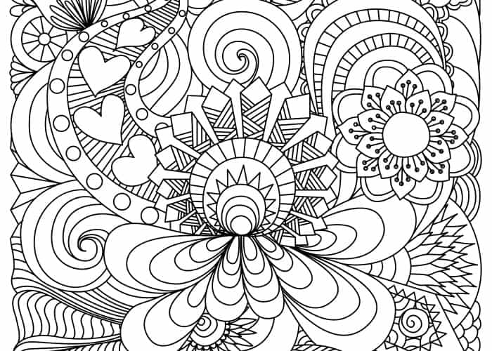 final floral coloring page pic