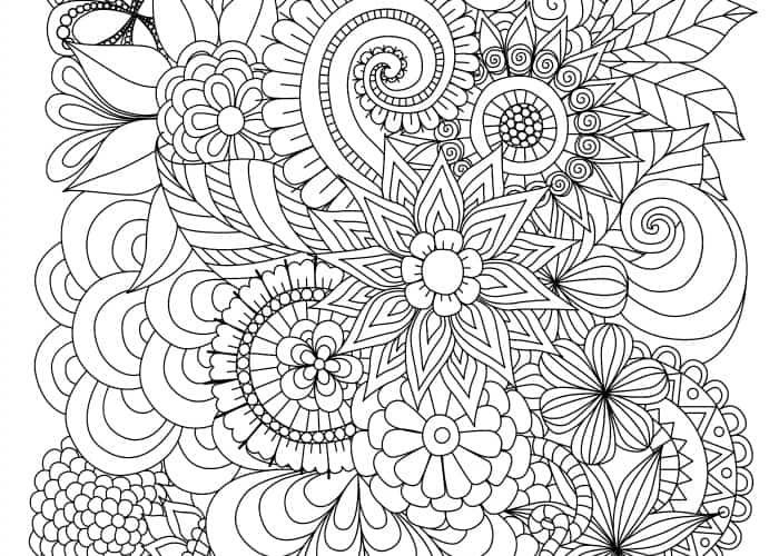 final flower coloring page pic