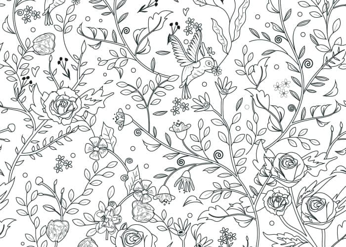 final little flowers coloring page pic