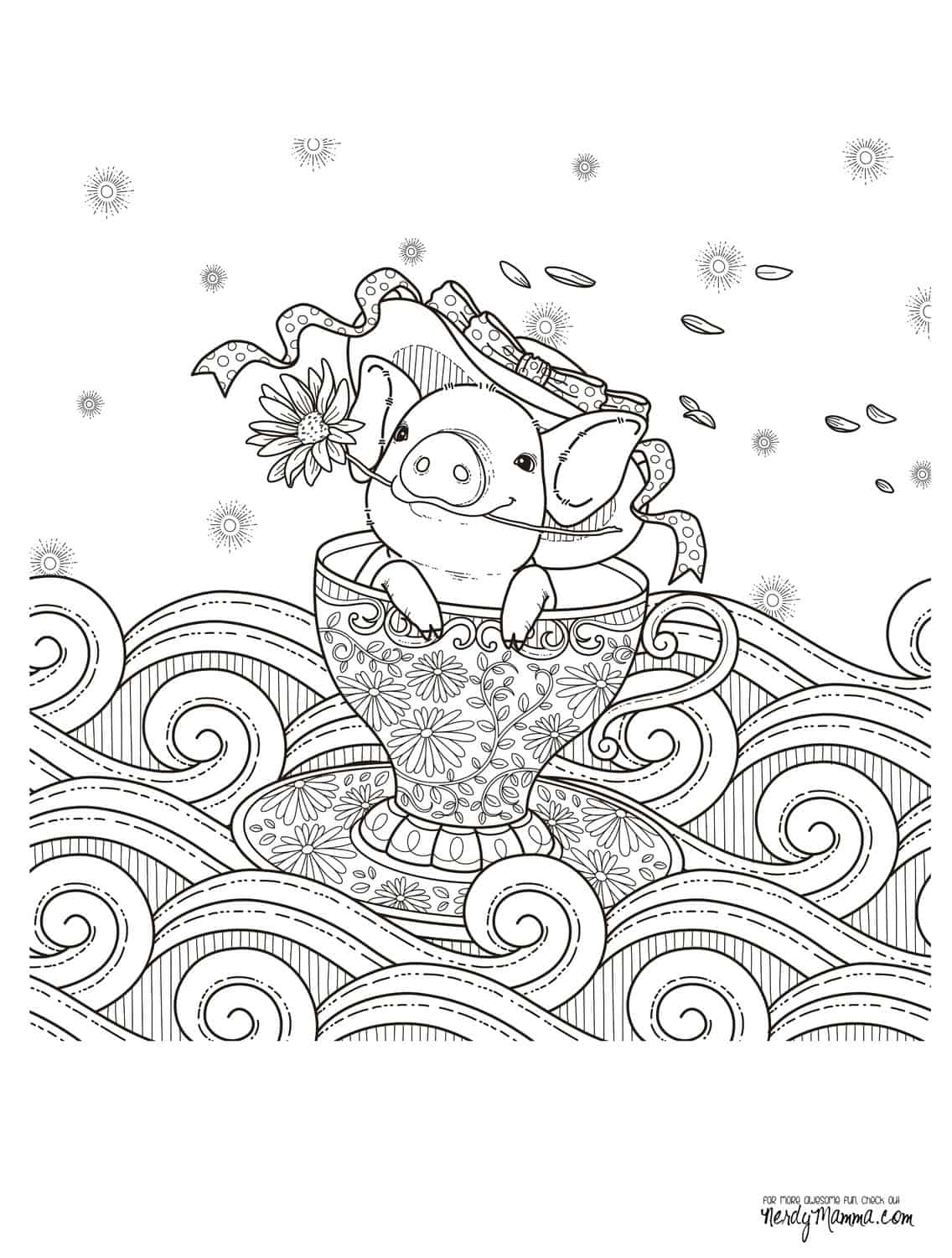 Coloring pages for adults cute - Get The Free Downloadable Jpg Here