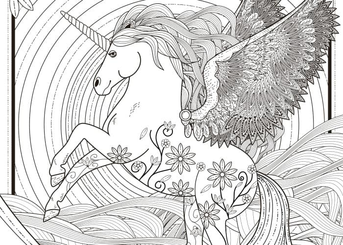 11 free printable adult coloring pages - Coloring Pages Unicorn
