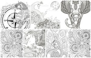 free printable coloring pages for adults feature