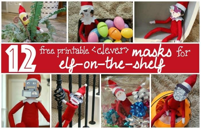 free printable elf on the shelf masks fb