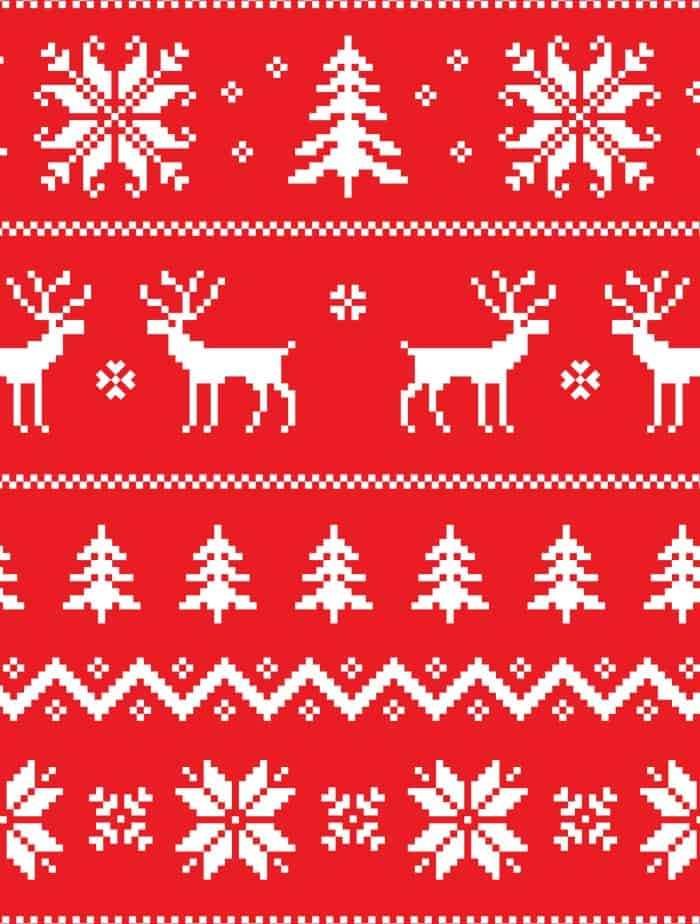 free printable gift wrap ugly christmas sweater small