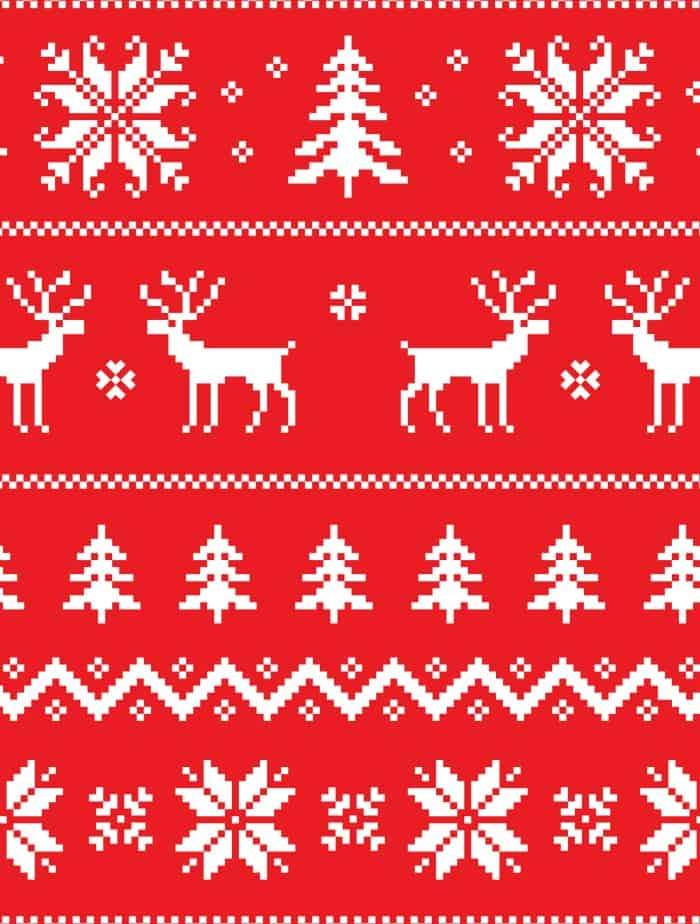free printable gift wrap ugly christmas sweater small