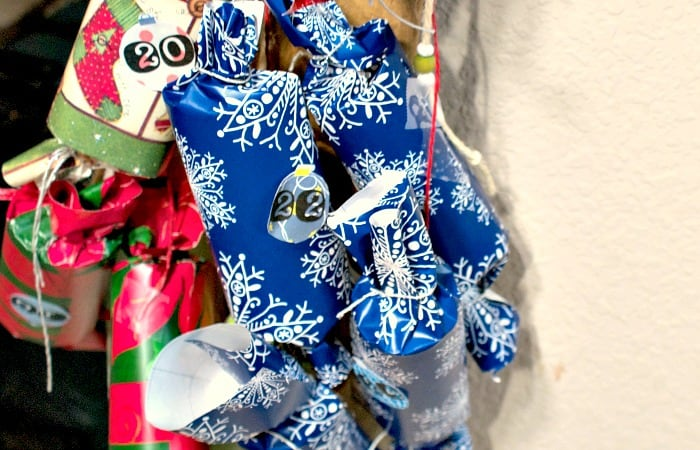 how to make an advent calendar from christmas crackers feature