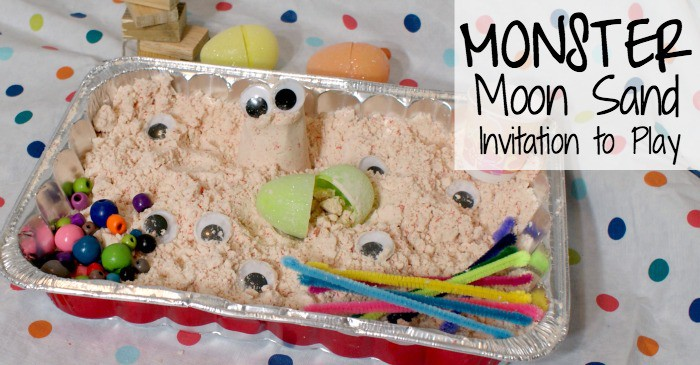 play invitation with homemade moon sand fb