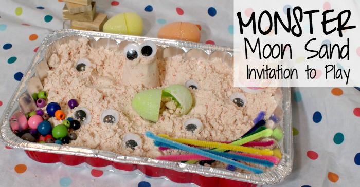 play invitation with homemade moon sand fb