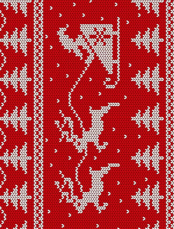 santa sweater paper small