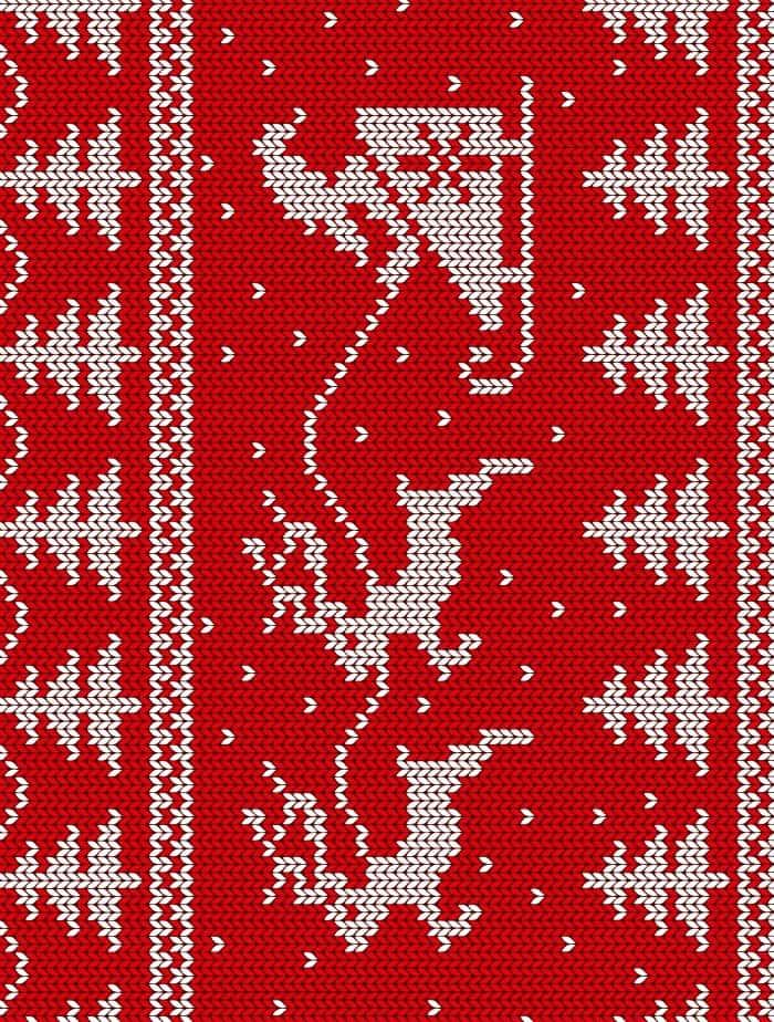 santa sweater paper small