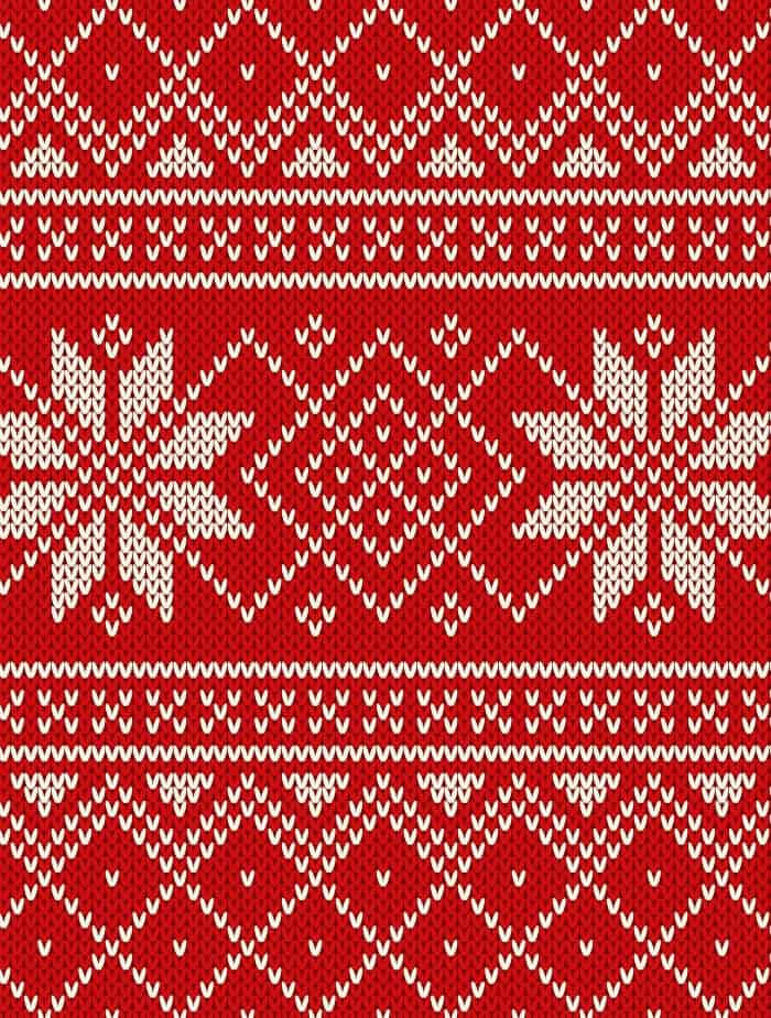 snowflake ugly sweater small