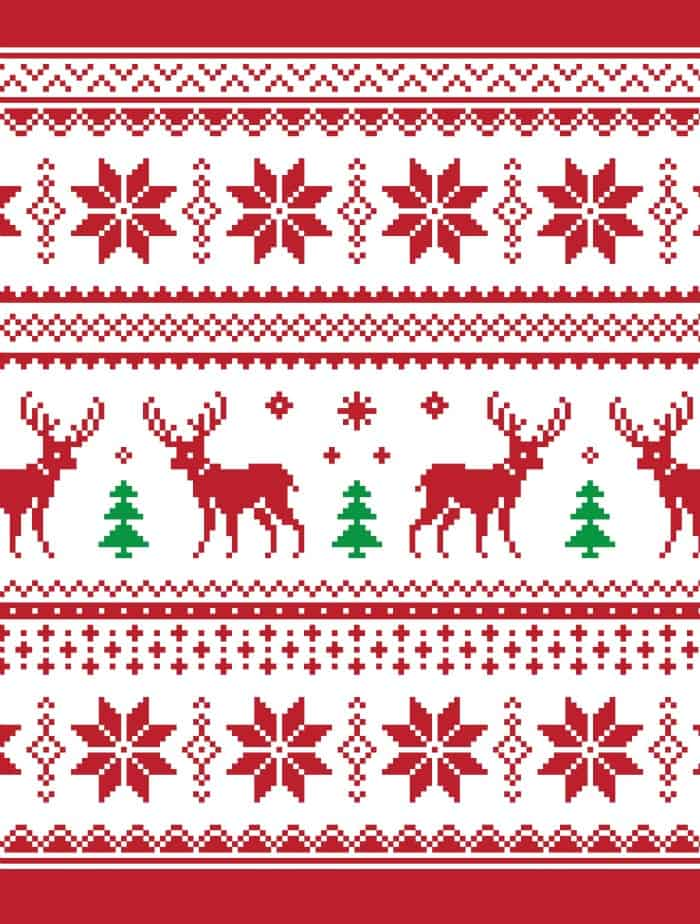 ugly christmas sweater with deers small