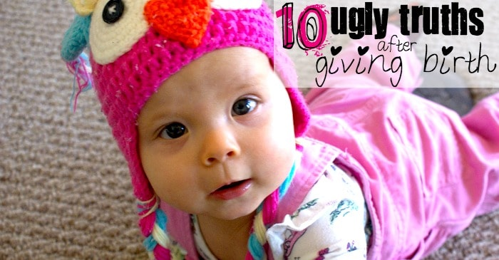 10 ugly truths after giving birth fb