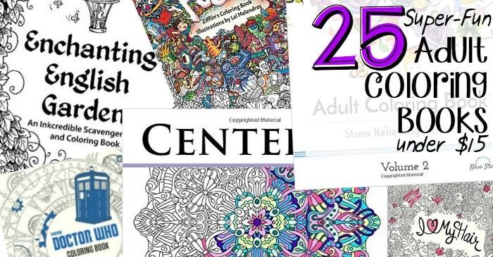 25 Super Fun Adult Coloring Books Under 15