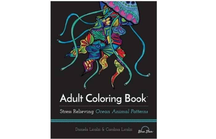 Adult coloring book for christmas