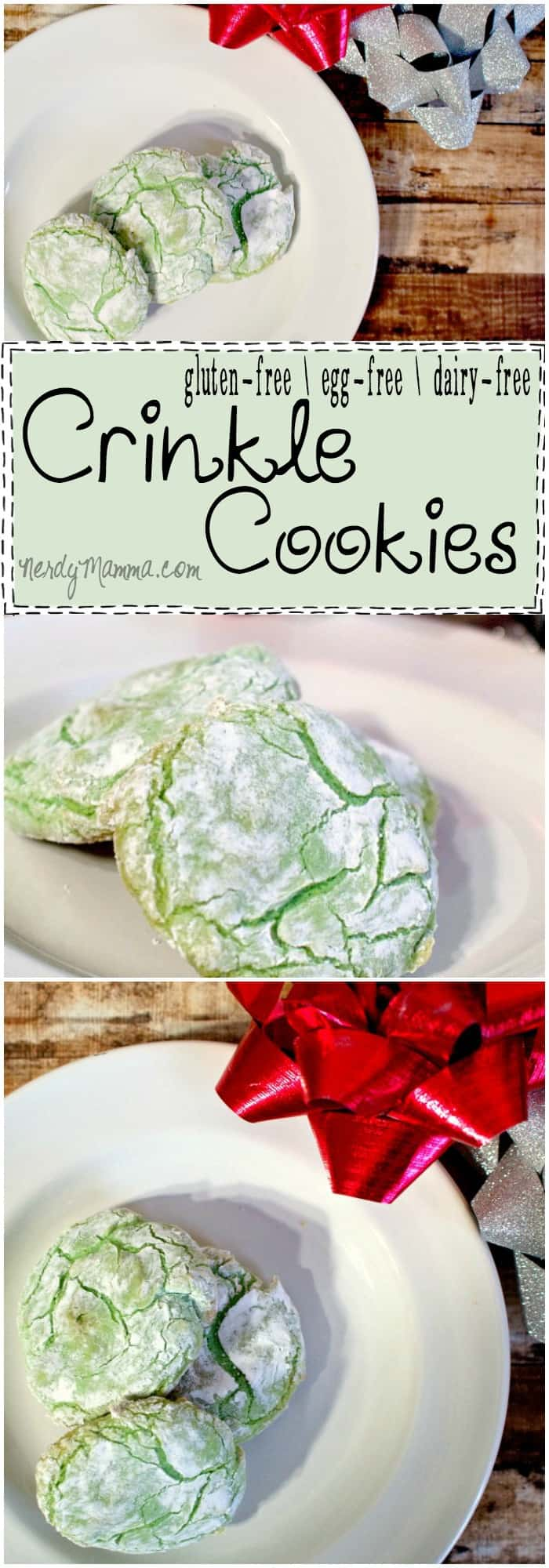 I cannot believe this recipe for gluten-free, egg-free and dairy-free Crinkle Cookies. I mean, it sounds so simple. And delicious. How can I NOT make them!