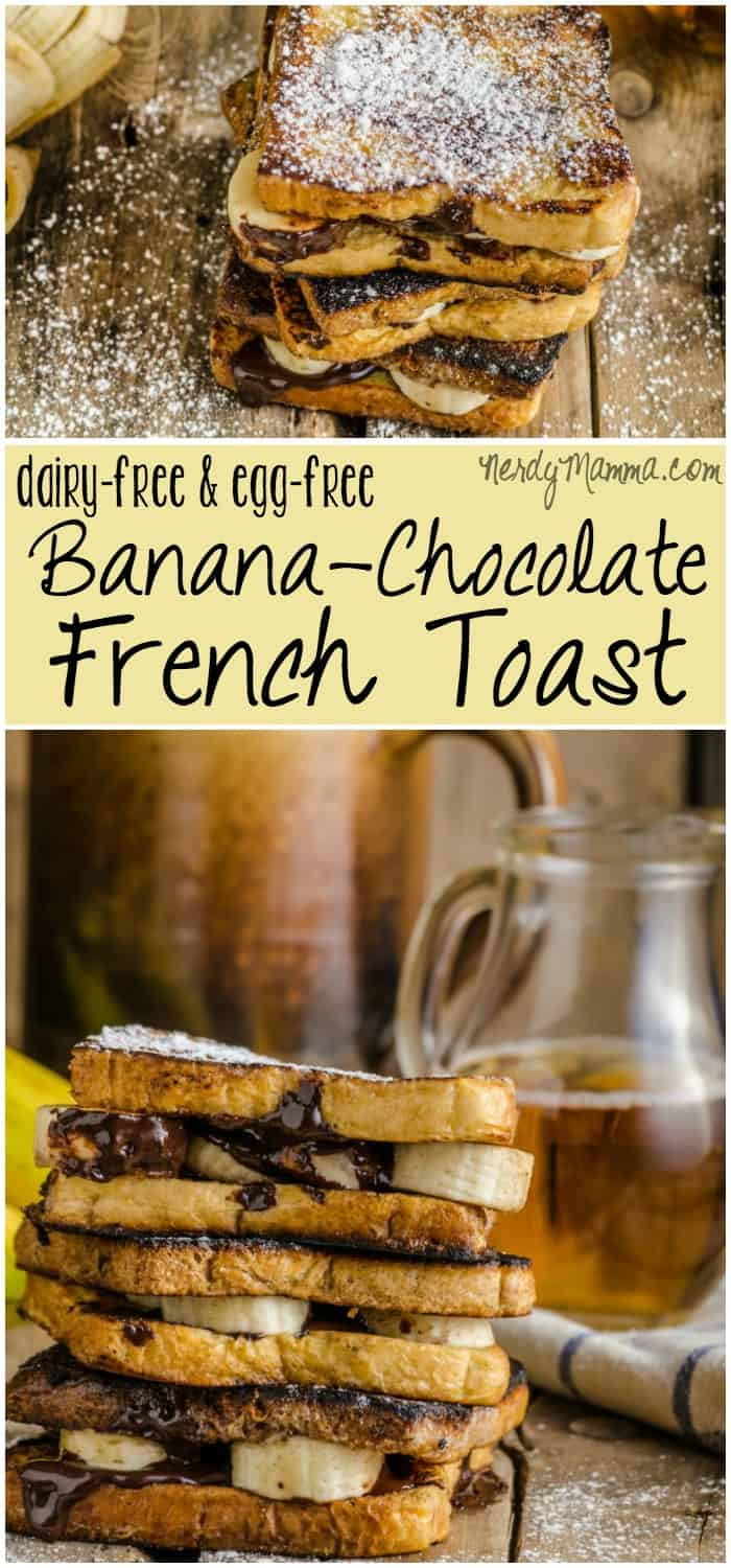 I had no idea that you could make french toast without eggs! And dairy-free, too...This recipe for french toast is amazing.