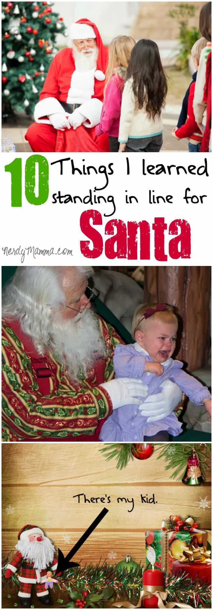 I hate standing in line for Santa. But I do it because my kids will need those memories. So, I stand in line. And learn my lessons...Heh.