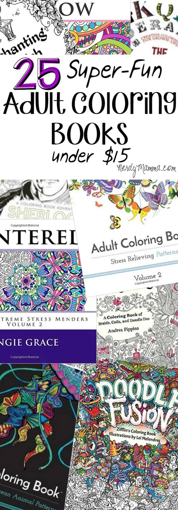 I love these 25 Super-Fun Adult Coloring Books. And they're all under $15. So awesome!