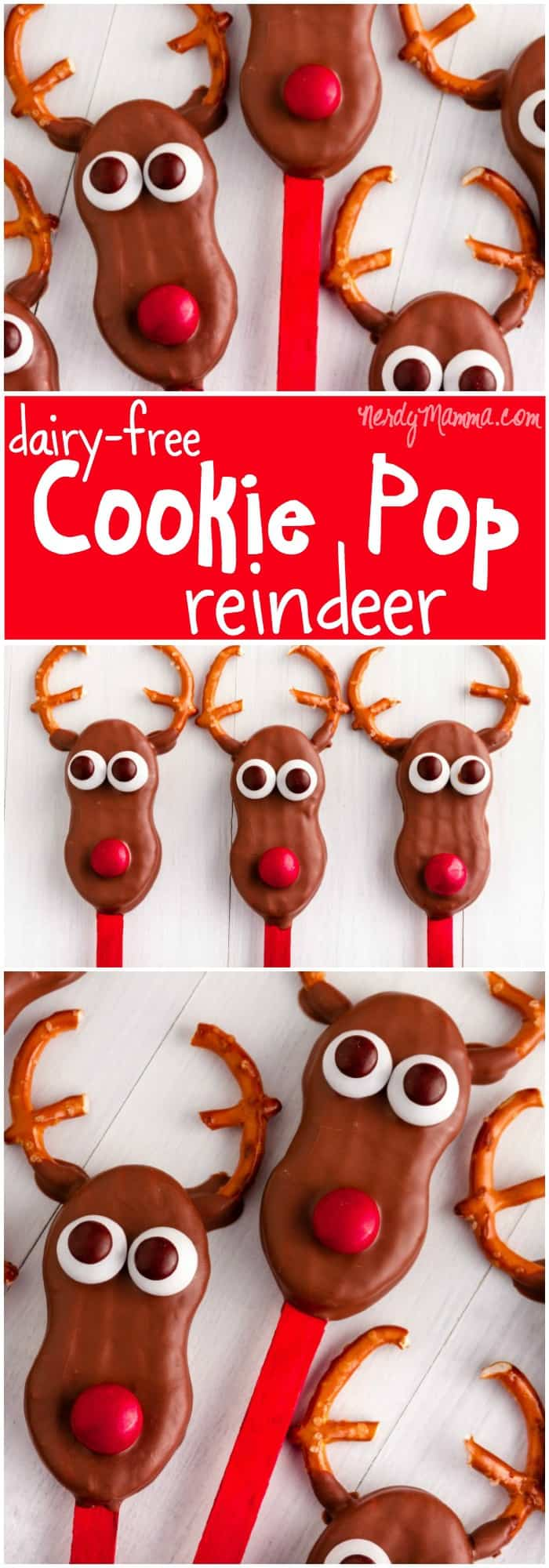 I love these dairy-free reindeer cookie pops...SO FREAKIN' YUMMY! Did you even know you could do this!