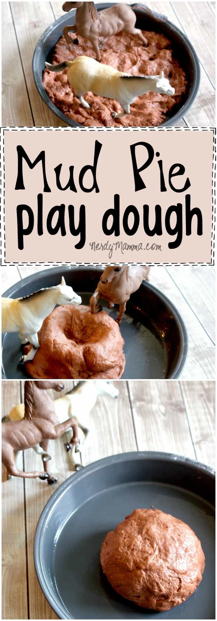I love this easy recipe for Mud Pie Play Dough. It's so soft and smells like apples. It's taste-safe, too!