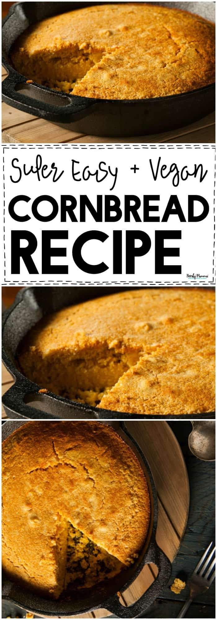 This vegan cornbread recipe is so easy. Its a soft, fluffy bread with just the right amount of yummy...LOVE!