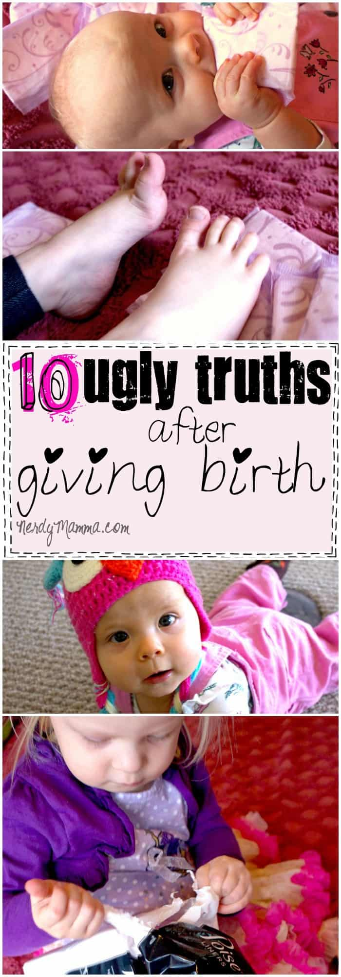 These 10 Ugly Truths After Giving Birth are SO FUNNY. I love parenting humor like this...so true, but sooooo funny! #ad #MyPoiseMoment