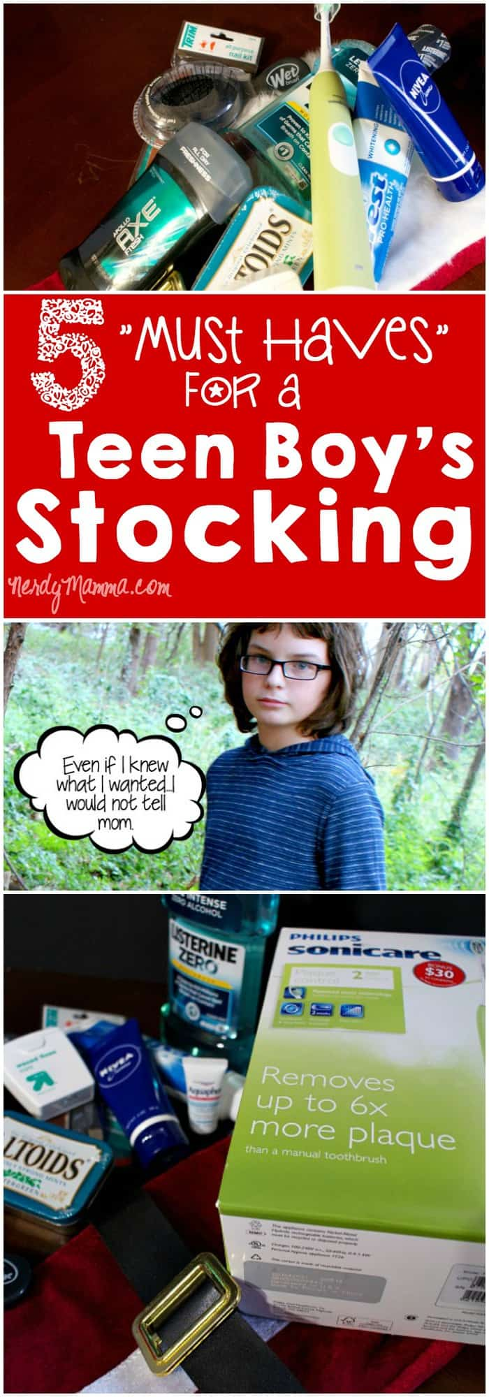 These 5 Must Haves for a teen boy's Christmas stocking are so spot-on. And FUNNY. #4...LOL!