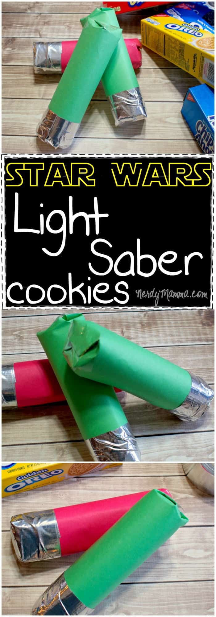 These Light Saber cookies are so cute. Very cool favors for a Star Wars party! LOL!