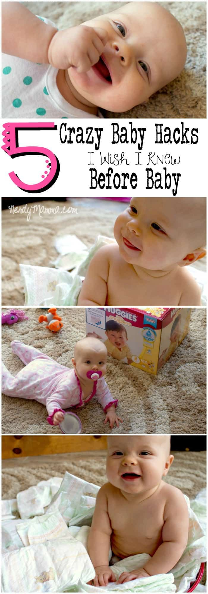 These crazy baby hacks are so awesome. I mean, they really are so helpful--and funny. And #3...I dd not know that...genius.
