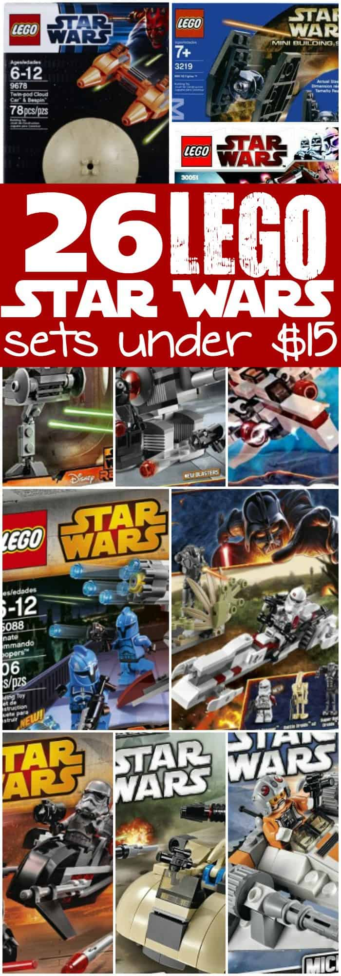 Wow! I had no idea that there were so many LEGO Star Wars sets for under $15. So, maybe Christmas CAN be affordable.