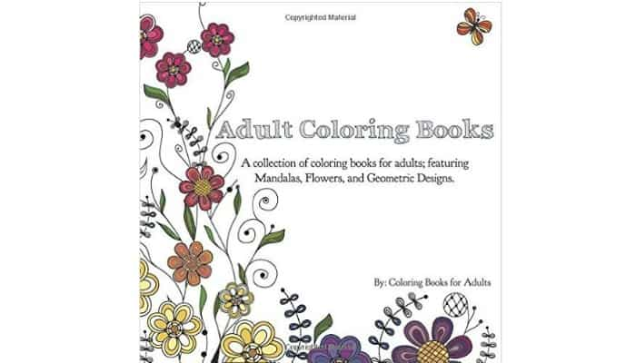 adult coloring book with flowers