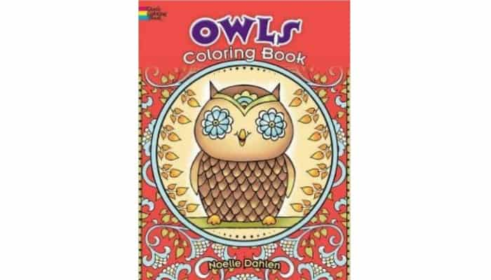adult coloring book with owls in it